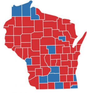 District map of Wisconsin